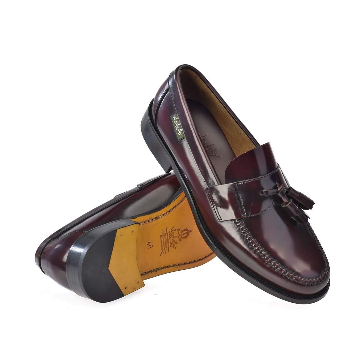 608EC Burdeos Talla 43 - Zapato de Hombre El Caballo 608 Burdeos (Talla Calzado: 43, Color: Burdeos) - Otoño-Invierno 2018/47 Zapatos de Piel: Amazon.es: ...