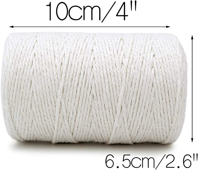 Or 30,5 m 2mm Argent d/écoration de No/ël emballages Cadeaux Noir Enhigh Lot de 3 bobines de Ficelle de No/ël en Coton Durable pour travaux manuels 2 mm.