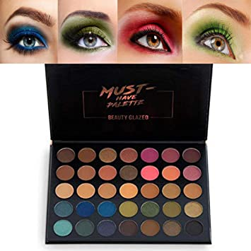 Beauty Glazed Makeup Eyeshadow Palette 35 Colors Smoky Makeup Eye Shadow  Pallete Matte Shimmer Glitter Pigment 67dc7a90a622