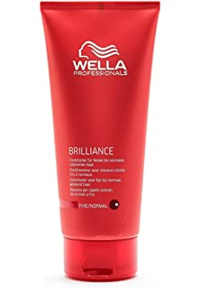wella professionnals conditionneur pour cheveux colors fins normaux brilliance normal 200ml - Shampoing Wella Cheveux Colors
