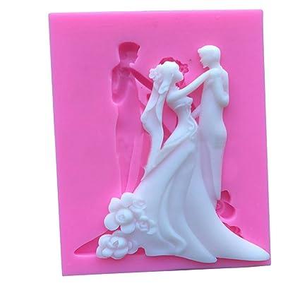enipate espejo marcos boda moldes de silicona para decoración de pasteles Sugarcraft Decoración de Cupcakes,