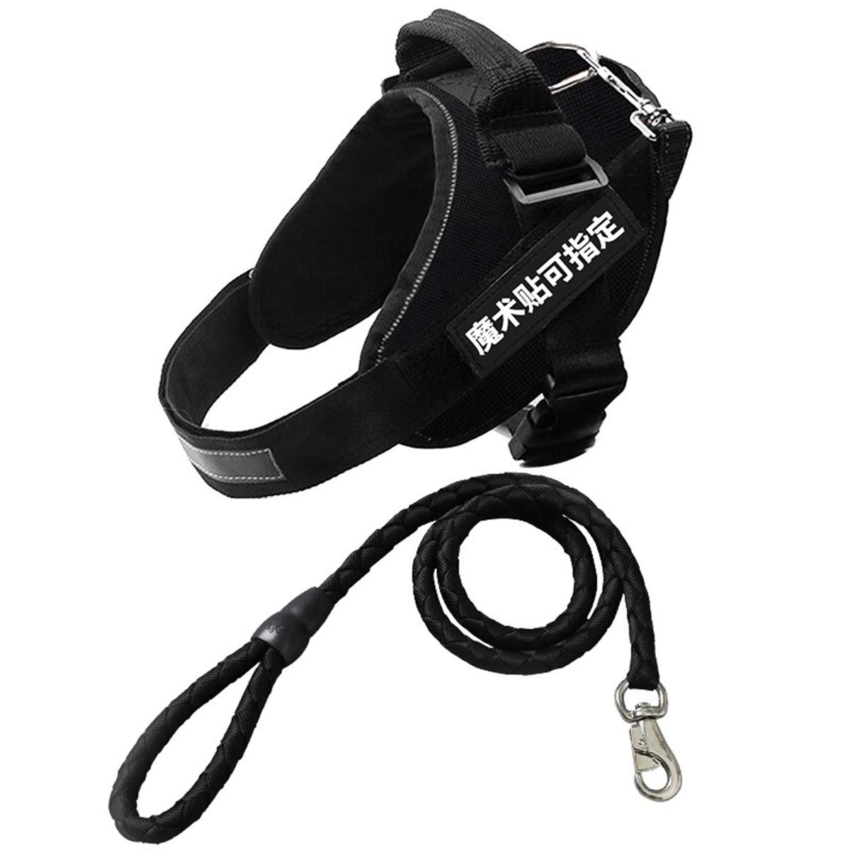 Black XL Black XL Dog Chest Strap with Traction Rope, Dog Chain, Medium Dog Large Dog, Hyena Rope, Anti-Rush Chest Strap, wear-Resistant Traction Rope, 3 colors Optional (color   Black, Size   XL)