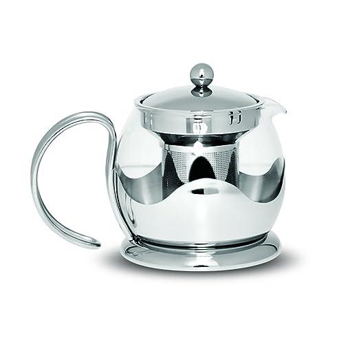 Sabichi 750 ml Teapot, Silver, 14 x 17 x 14 cm