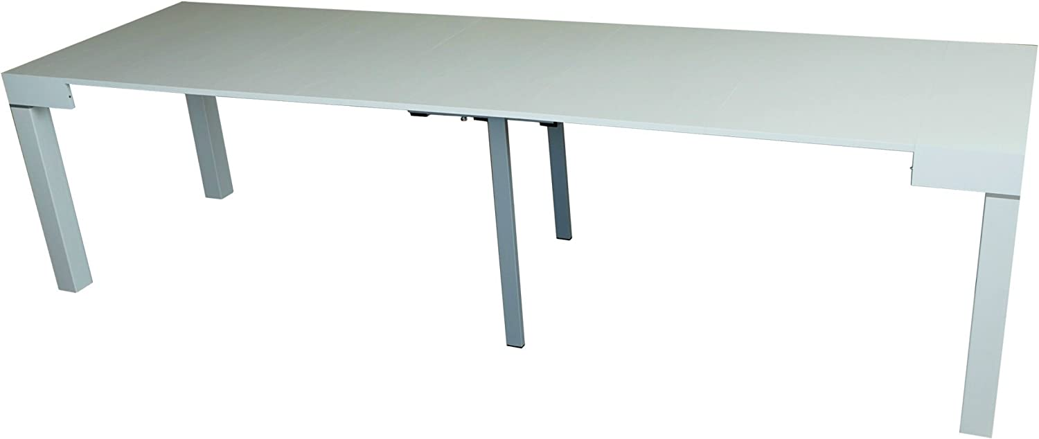 Mesa Consola Extensible Blanco Fresno hasta 3 Metros Made in Italy ...
