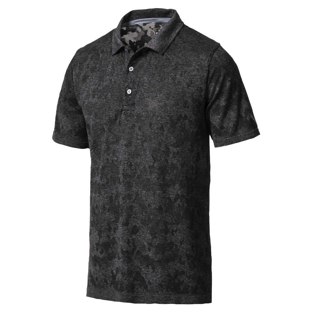 Puma Golf Men's 2018 Evoknit Camo Polo, Small, Puma Black