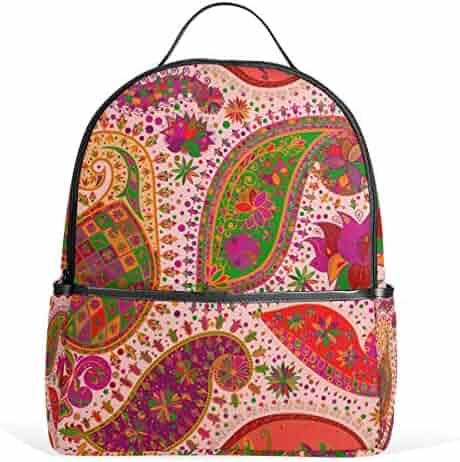 525e543e6b JSTEL Vintage Floral School Backpack 2th 3th 4th Grade for Boys Teen Girls  Kids