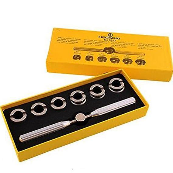 Owikar - Juego de 7 herramientas de reparación de relojes, abrebotellas de carcasa trasera 5537 para reloj Rolex Tudor: Amazon.es: Relojes