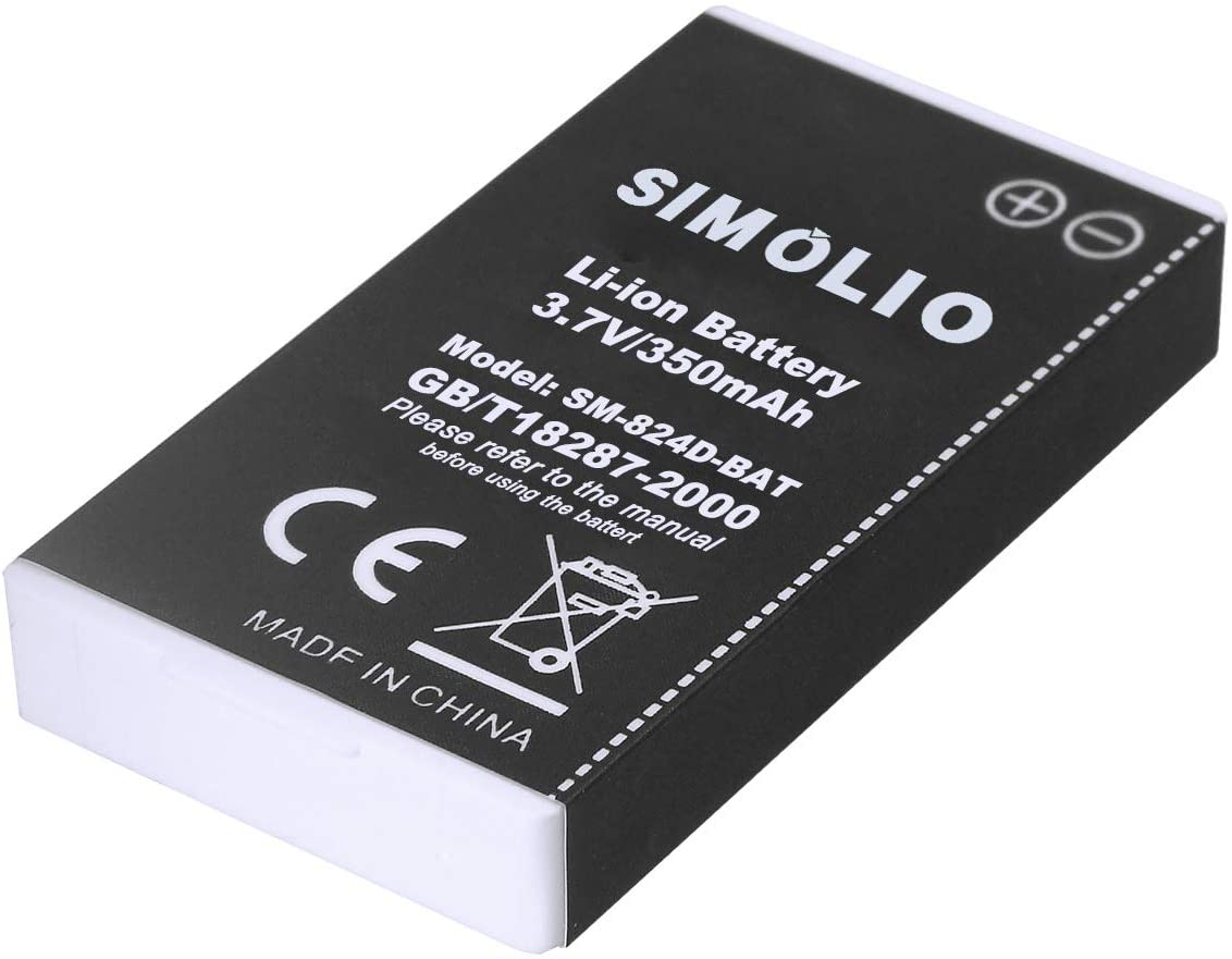 Rechargeable and Replaceable Battery for Simolio Wireless TV Hearing Assistance Headsets Rechaegeable Li-ion Battery for SIMOLIO Wireless TV Headphones SM-824D Series and SM-863D