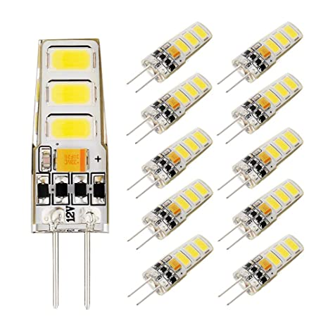 Bombillas LED BOGAO 2W G4 Blanco cálido 150LM, Reemplazo de bombillas halógenas 15W, bombillas
