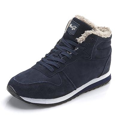 Chaussures Bottes Hiver De Neige Femme Homme Boots Fourrees Bottines Mode  Courts Avec Doublure Chaude Noir e20c797f87d2