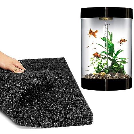 5cm Acuario Filtro Esponja bioquímica algodón Filtro Espuma Tanque de Pescado Esponja-Negro