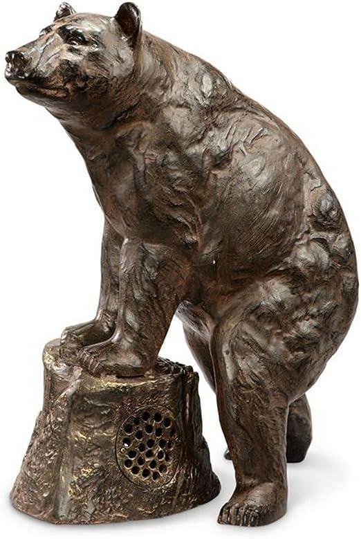 Sierra de Jardín estatua de oso con altavoz Bluetooth: Amazon.es: Jardín