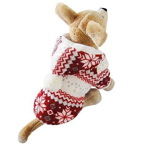 Zhangcaiyun Abrigos para Perros Capa de algodón de Copo de Nieve para Mascotas Perro Mascota Traje