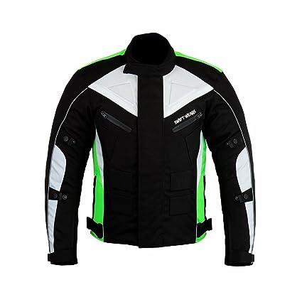 Swiftwears Chaqueta impermeable para hombre de moto textil ...