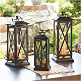Crossbar Metal Outdoor Lantern (Small)