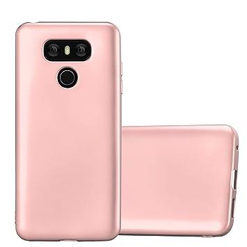 Cadorabo Funda para LG G6 en Metallic Oro Rosa – Cubierta Proteccíon de Silicona TPU Delgada e Flexible con Antichoque – Gel Case Cover Carcasa Ligera
