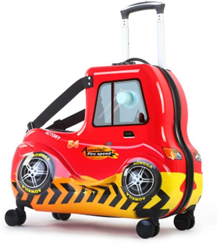 Equipaje Maletas Los Niños Pueden Sentarse Ride Trolley Case Car Pattern Maleta Rueda Universal 24 Inch