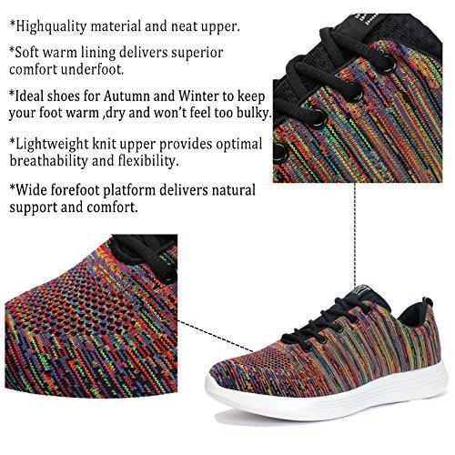 Scarpe Women Sneaker Scarpe Fitness Sportive Traspiranti Voovix da Shoes Rosso Men Uomo Corsa qOTOw4xd