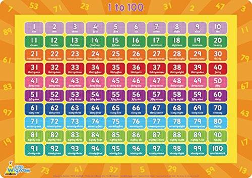 Little Wigwam 1 to 100 Placemat (Counting Placemat)