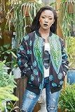 Bomber jacket / African print bomber jacket/ ankara print bomber jacket - turquoise