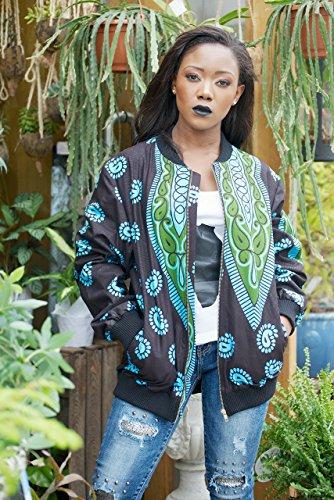 Bomber jacket / African print bomber jacket/ ankara print bomber jacket - turquoise by Gitas Portal