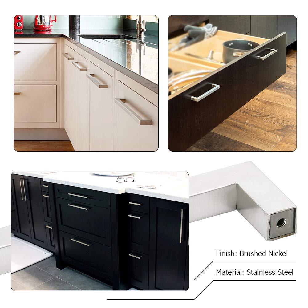 caj/ón cocina Tirador Goldenwarm/® de acero inoxidable cepillado ancho del tubo 12/mm x 12/mm para armario
