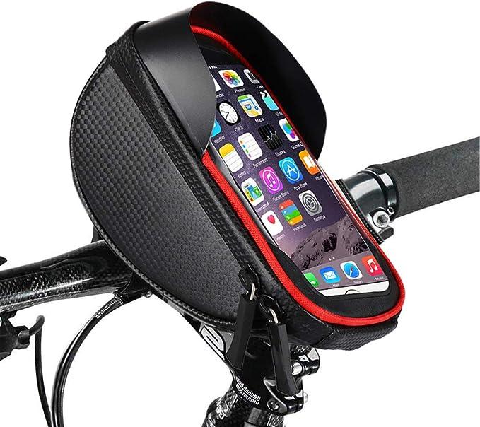 Lenkertaschen Für Fahrrad Rahmentasche Fahrrad Handy Halterung Wasserdichte Fahrradtasche Aufbewahrungstasche Mit Touchscreen Schutzhülle Für Smartphones Unter 6 Iphone 7 8 Plus Xs Max Bekleidung