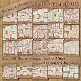 sewing machine 2015 - StitchX Best of 2015 Redwork Machine Embroidery Patterns - 20 Full Sets - Over 200 Designs