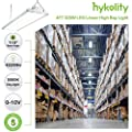 LED High Bay Shop Light, 4FT 300W Linear LED Industrial Workshop Light, Warehouse Aisle Area Light 42000lm, 5000K Daylight, 8 Lamp Fluorescent Equivalent, 1-10V Dim, UL Complied