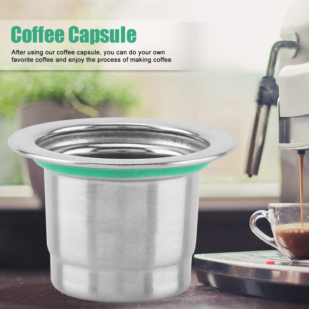 Delaman C/ápsula Reutilizable Recargable del Caf/é del Acero Inoxidable de Compatible para la M/áquina del Caf/é del Nespresso