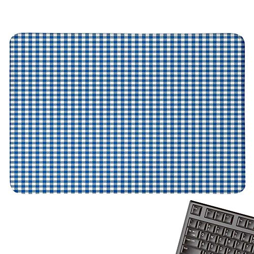 Abstractcomputer Mouse padPicnic Table Style Simplistic Two Colored Bands Kitchen Overlapping MotifBlack Cloth Mousepad 15.7