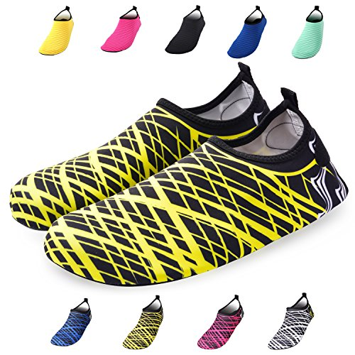 Men Yellow dry Women Quick Stripe Shoes For And Water Socks Bridawn Barefoot vnZX0qAwt