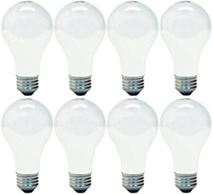 GE Lighting 66248 Soft White 53-Watt, 890-Lumen A19 Light Bulb with Medium Base, 8-Pack