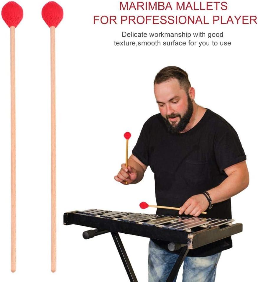 1 Paio di mazzuole Marimba Bacchette con Manici in Legno per Principianti Bacchette Marimba
