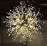 GDNS 8 Pcs Lights Chandeliers Firework led Vintage Wrought Iron Chandelier Island Pendant Lighting Ceiling Light, Dia 23.5