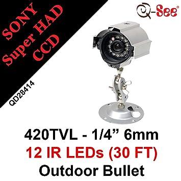 Q-See QD28414 - Cámara de vigilancia (510 x 492 Pixeles, NTSC,