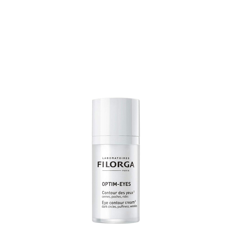 Filorga Optim-Eyes Triple-Action Eye Contour Cream for Dark Circles, Puffiness, Wrinkles, 0.5 fl oz