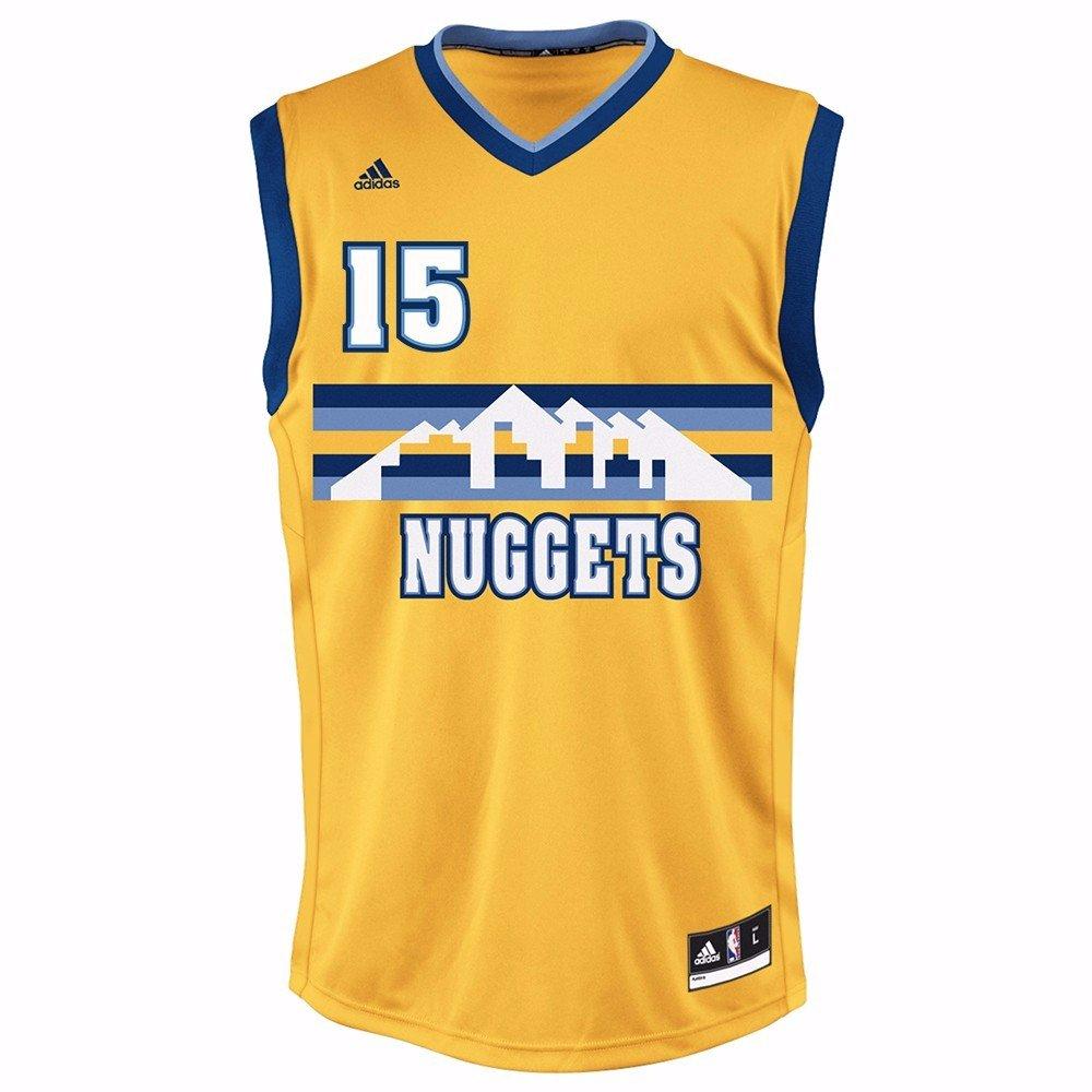 77c88e90f2f84 Amazon.com : Carmelo Anthony Denver Nuggets NBA Adidas Men's Gold ...