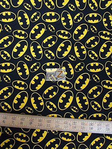 DC Comics Batman Emblem TOSS by David Textiles 100% Cotton Fabric 32