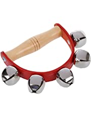 SODIAL(R)Tambourine Handbell Baby Kid Child Early Educational Musical Instrument Rhythm Beats Shaking Small Jingle Bell Toy Tool