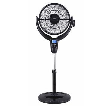 Hunter Home Comfort F-7507 Black Airflo 360 Pedestal Fan-LCD Display & Thermostat