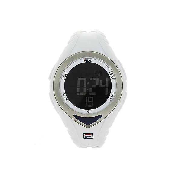 Fila FL38024002 - Reloj de cuarzo, unisex, con correa de poliuretano, color blanco