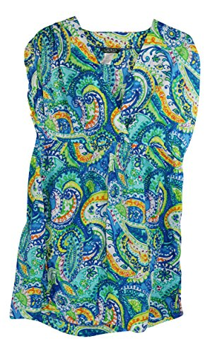 Lauren by Ralph Lauren Women's Plus Size Carnivale Paisley Farrah Swim Coverup Dress (2X)