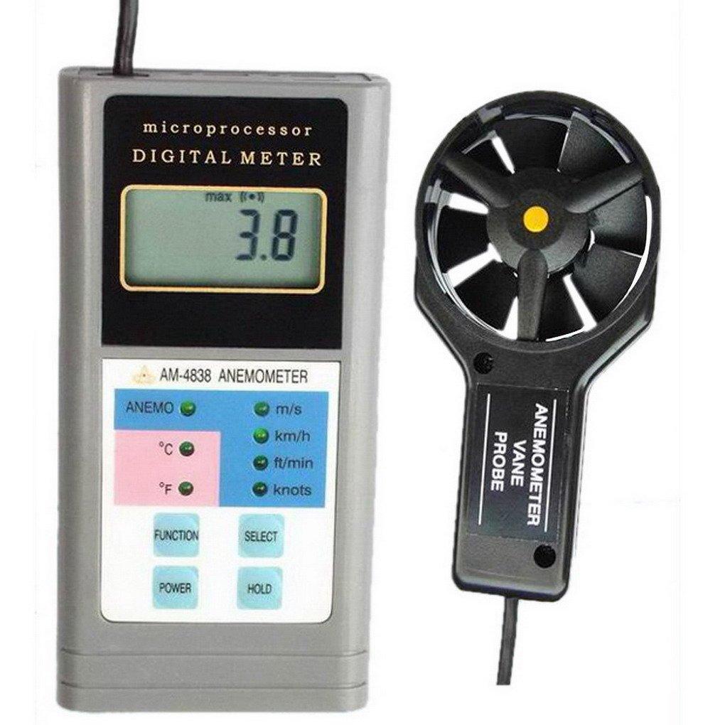 ACMEDE Digital Windmesser Anemometer für Windgeschwindigkeitmessung und Temperaturmessung - AM4838 AM4838 AM4838 B01DG6V22E Multifunktionswerkzeuge Starker Wert 8e0542