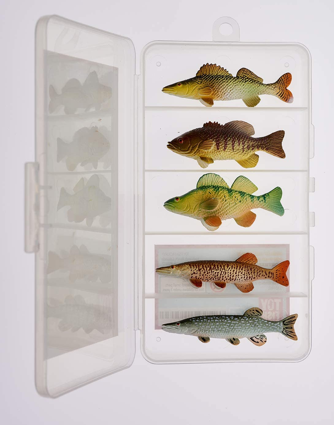 Northern Angler Collection Toy Fish Set | 5 Toy Fish | Toy Bass | Toy Pike |Toy Walleye | Toy Musky | Fish Figurine Toys | Musky Fishing | Northwoods Cabin Decor by Toy Fish Factory