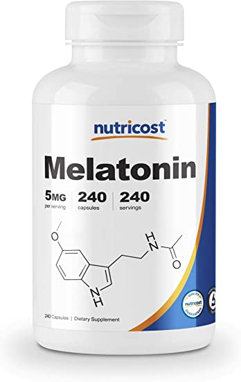 Amazon.com: Nutricost Melatonina 5 mg, 240 cápsulas ...