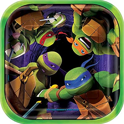 Square Teenage Mutant Ninja Turtles Dessert Plates, 8ct: Toys & Games