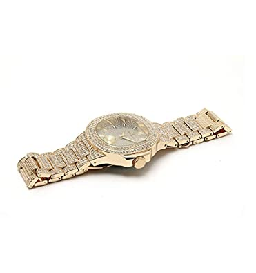 Amazon.com: Bust Down AP Watch. Iced Out CZ Diamonds Gold Color Silver AP Hip Hop Watch Jewelry. Rapper Bling Rollie Skelton (Gold): Jewelry