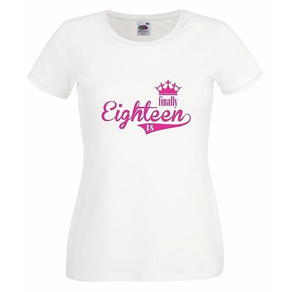 .NEU,Damen T-Shirt zum 18.Geburtstag Prinzessin Happy Birthday Geburtstagsshirt