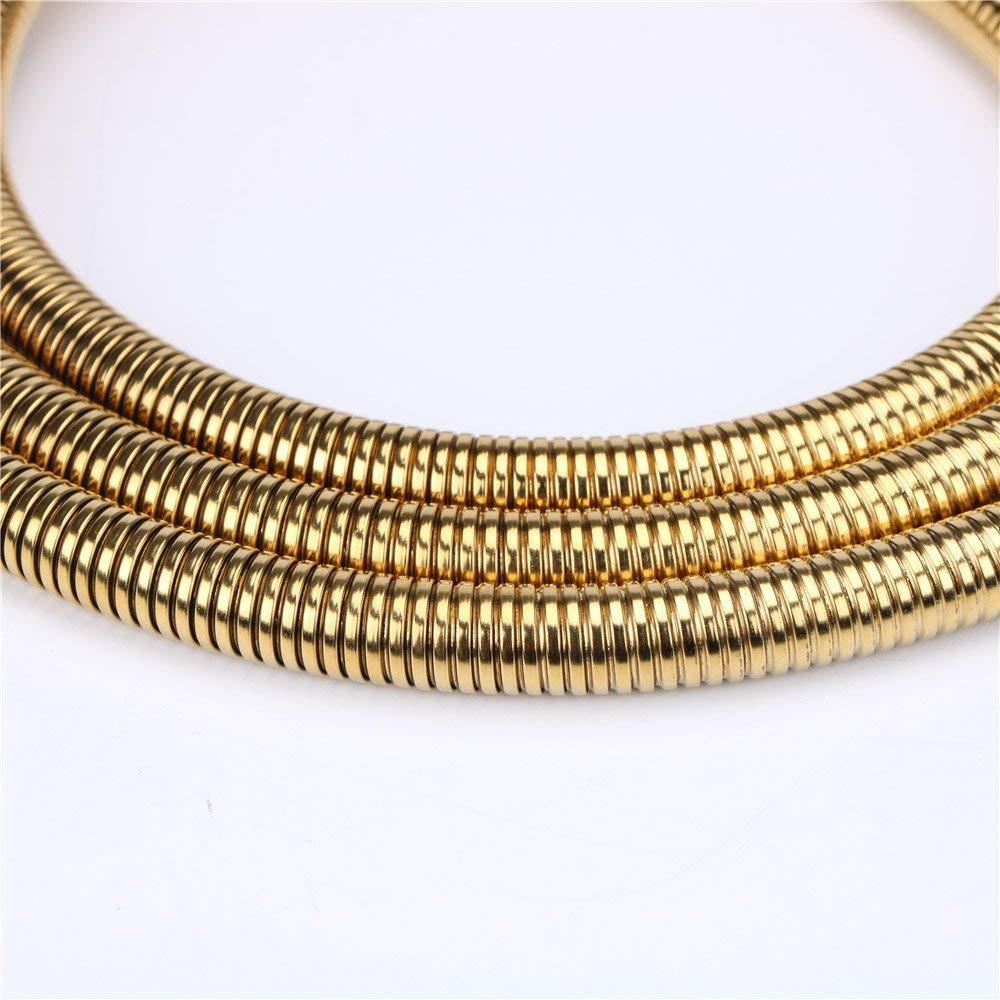 Manguera de ducha de mano de acero inoxidable de 79 pulgadas de longitud extendida Weirun color dorado titanio